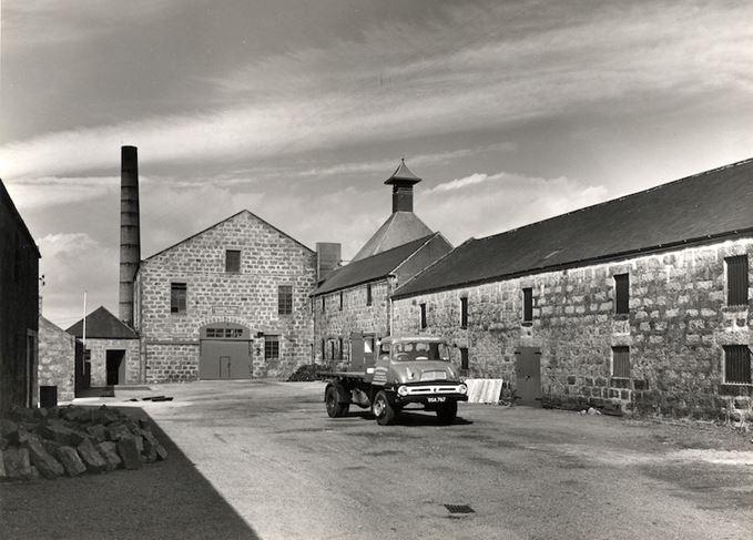 Glenugie distillery yard