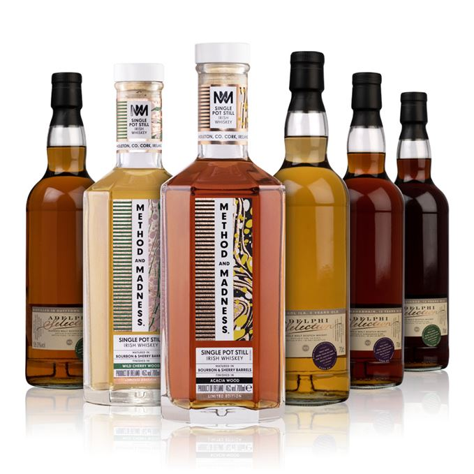 Method & Madness and four Adelphi whiskies