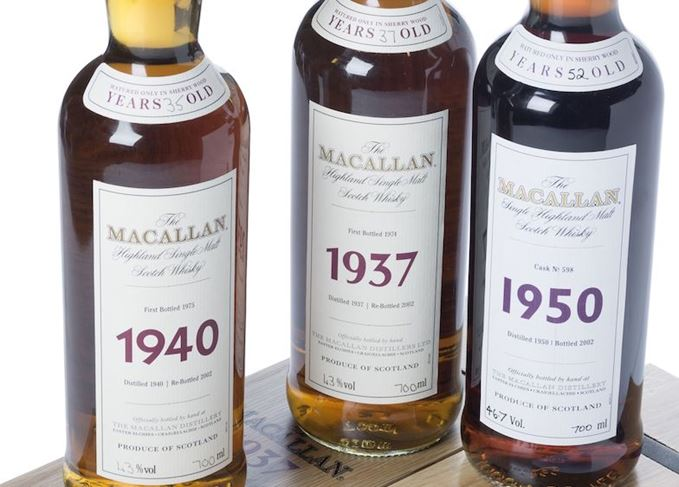 Rare Macallan auction sales