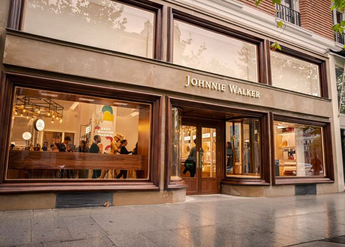 Johnnie Walker whisky shop Madrid