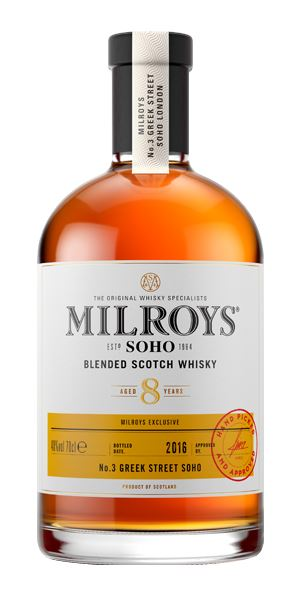 Milroy's of Soho Blended 8 Years Old
