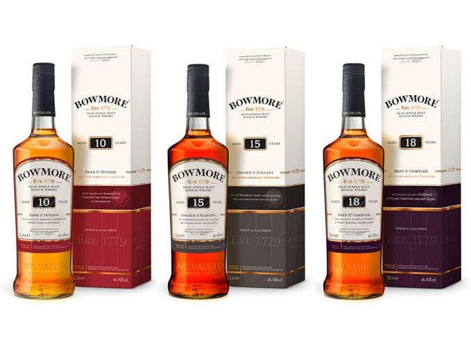 Bowmore travel retail whisky