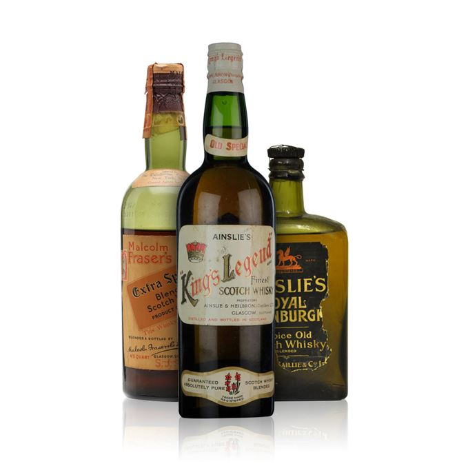 Rare whisky reviews: Malcolm Fraser's, Ainslie's King's Legend and Ainslie's Royal Edinburgh