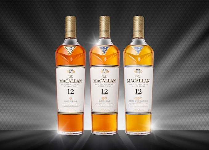 Macallan 12 Year Old trilogy new design