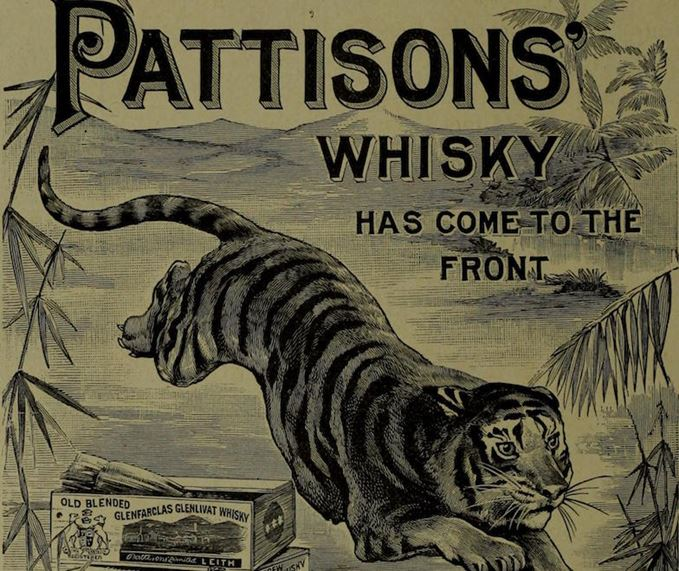 A Pattisons' Whisky advertisement