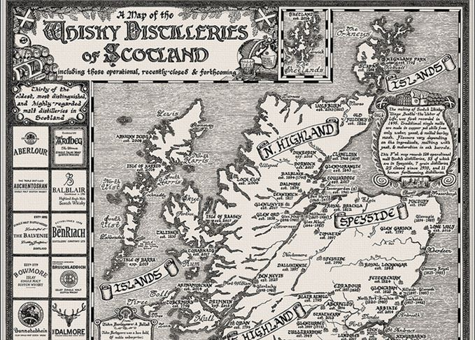 Cartographer designs hand-drawn whisky map | Scotch Whisky on scotland cities list, culloden moor map, scotland independence poll latest, guild of sommeliers scotch map, scotland wallpaper scottish highland castles, scotland gardens, scotland hamilton family, scotland scotch regions, scotland highlands maps, scotland hotels, scotland temperatures by month, scotland lochs, scotland plants, islay distillery map, highland distillery map, scotland accent, scotland scotch brands, scotland distillery poster, scotland beer, scotland whisky,