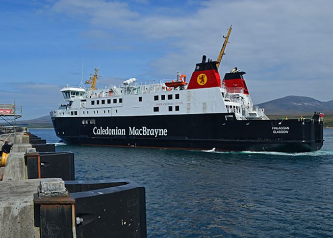 MV Finlaggan at sea