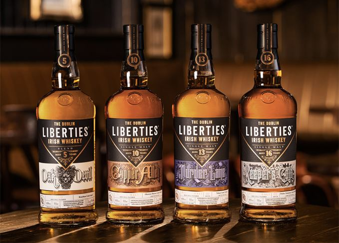 The Dublin Liberties single malt whiskeys