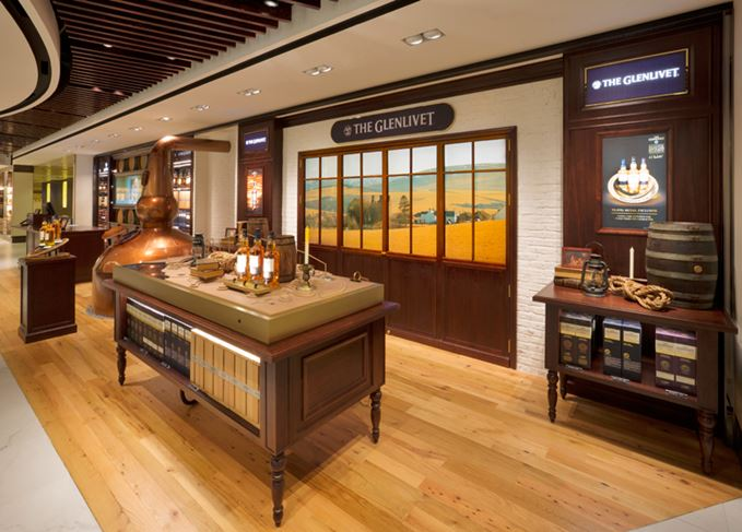 The Glenlivet boutique at DFS' Whiskey House