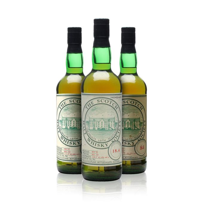 SMWS Glendullan 84, Glen Esk 86.6, and Inchmurrin 18.4