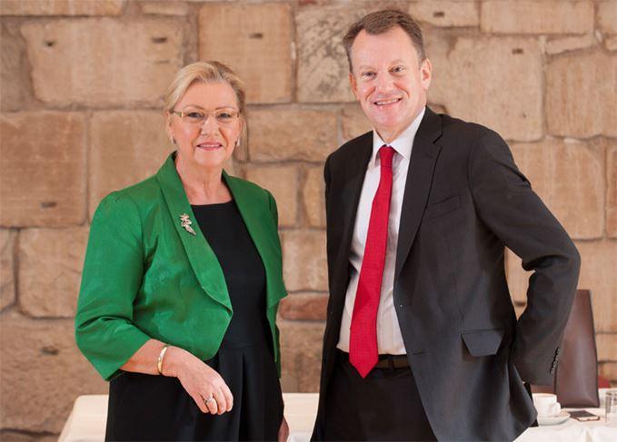 Dame Joan Stringer and David Frost