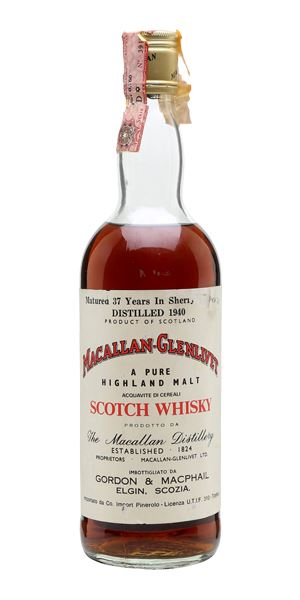 Macallan-Glenlivet 37 Years Old, 1940 (Gordon & MacPhail)