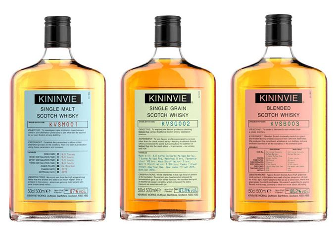 Kininvie Works whiskies