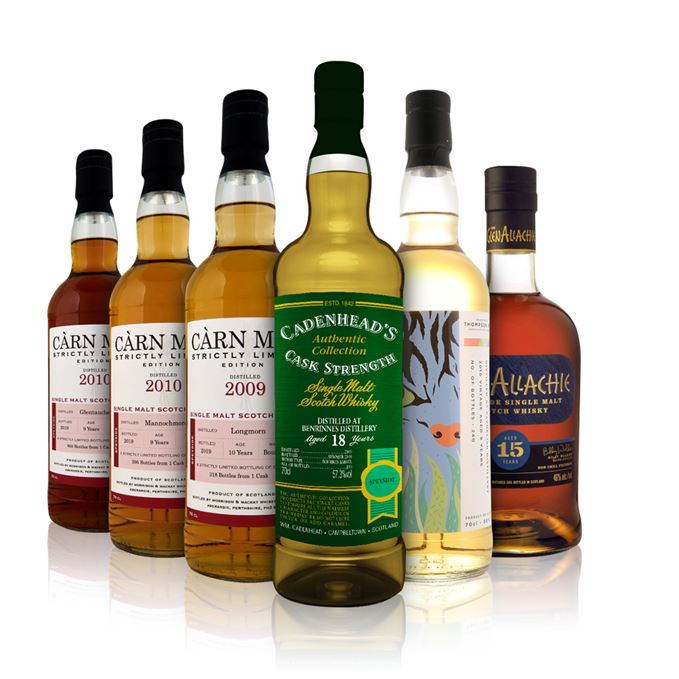 Carn Mor Mannochmore, Longmorn and Glentauchers, Benrinnes 18, Clynelish 9 Years Old, Glenallachie 15
