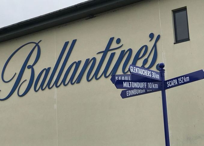 Ballantine's signpost at Glenburgie distillery