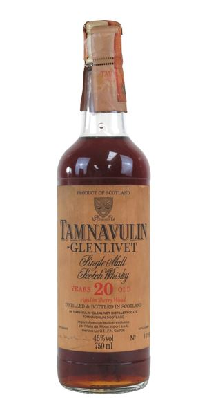 Tamnavulin 20 Years Old, Bottled c.1980s (Moon Import)