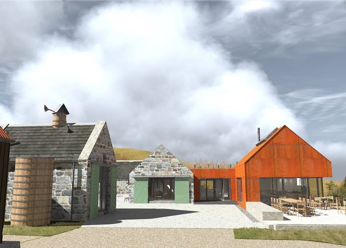 Architect's impression of Cabrach Heritage Centre