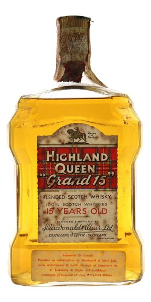 Highland Queen 'Grand 15' 15 Years Old, Bottled 1960s
