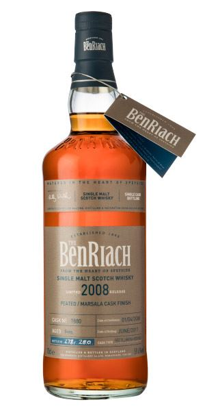 BenRiach Single Cask Batch 14, 9 Years Old (2008), Peated/Marsala Cask #7880