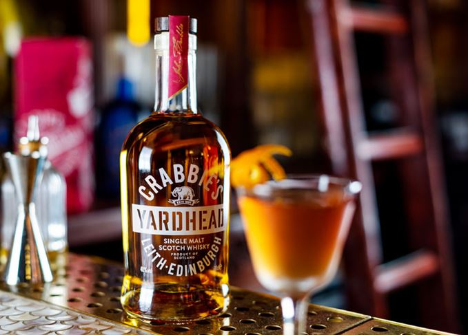 Crabbie's Yardhead and Bobby Burns cocktail
