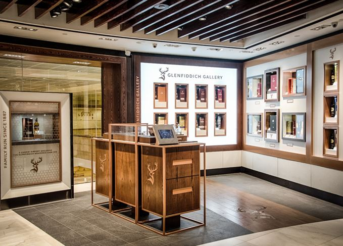 The Glenfiddich boutique at DFS' Whiskey House