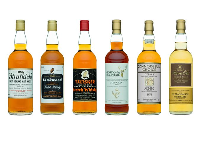 Six single malts Gordon & Macphail
