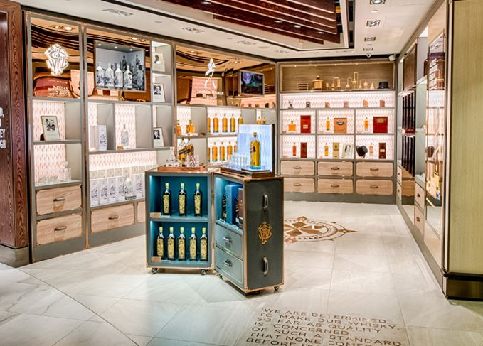 The Johnnie Walker boutique at DFS' Whiskey House