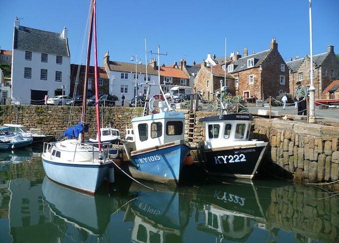 Crail harbour East Fife travel