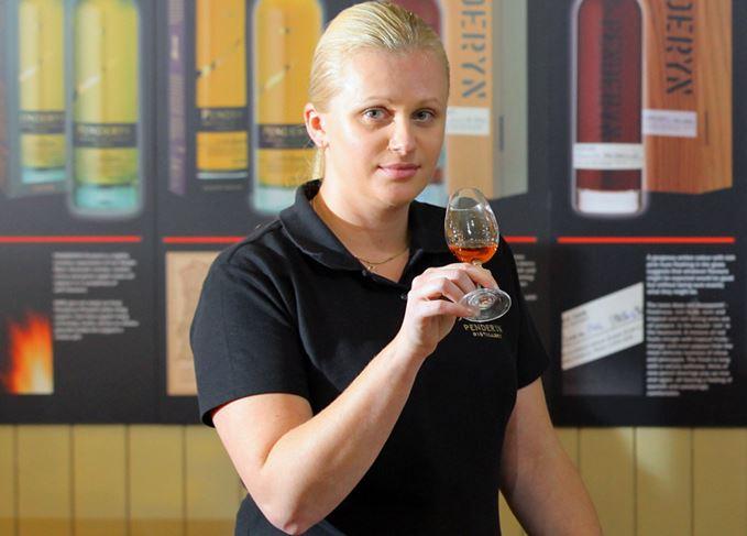 Penderyn whisky blender Aista Jukneviciute