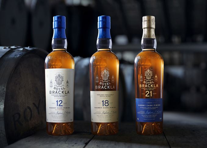 Royal Brackla 12-, 18- and 21-year-old whiskies