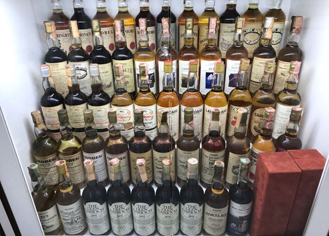 Whisky collection belonging to Diego Sandrin