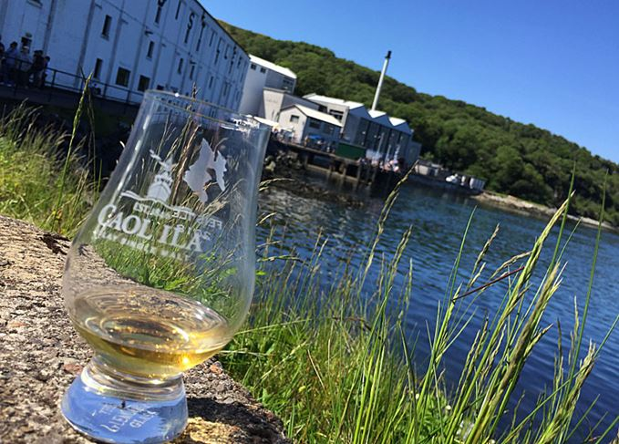 Caol Ila distillery and Islay Festival whisky glass