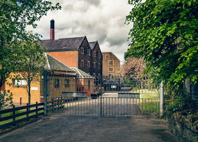 Glenkinchie distillery front gates