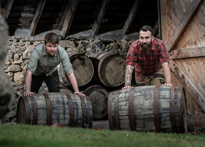 Liam Pennycook and Mike Bain Deeside distillery Burn o' Bennie