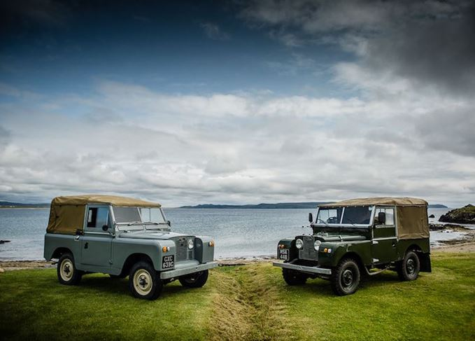 Land Rover Defenders on Islay
