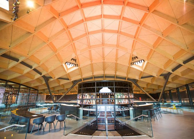 Macallan distillery interior and roof