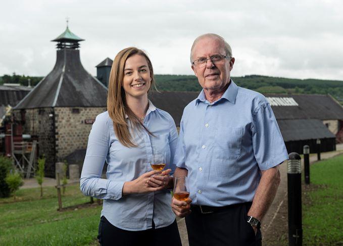 Kelsey McKechnie and David Stewart MBE Balvenie