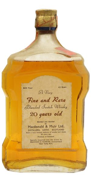 Macdonald & Muir 20 Years Old, Bottled 1940s