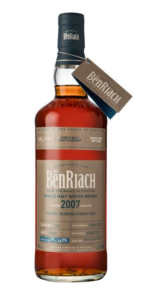 BenRiach Single Cask Batch 14, 10 Years Old (2007), Peated/Sherry Cask #101