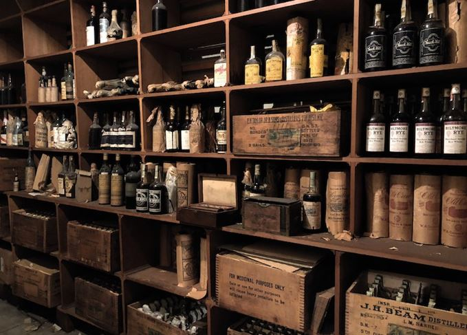 Secret vault of pre-Prohibition whiskey
