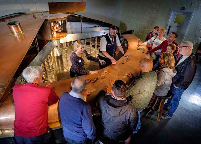 Blair Athol's copper custom-made bar