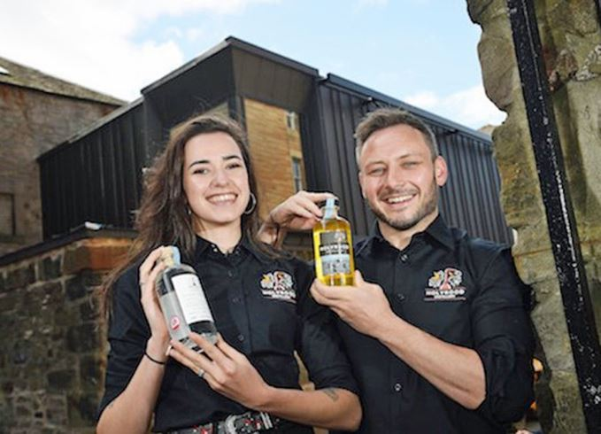 Holyrood Distillery staff showcase spirits