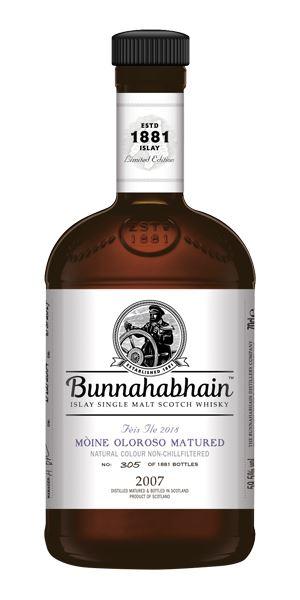 Bunnahabhain Moine 2007 Oloroso Cask, Fèis Ìle 2018