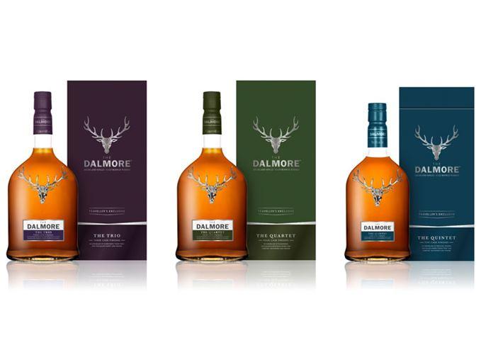 Dalmore travel retail whiskies The Trio The Quartet The Quintet