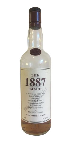 The 1887 Malt, 30 Years Old, bottled 1999