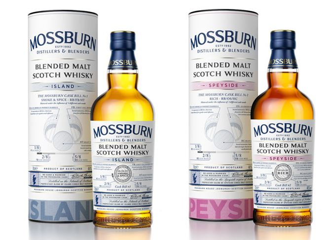 Mossburn Signature Casks Island and Speyside whiskies