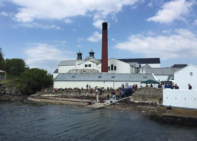 Lagavulin distillery during Islay Festival 2018