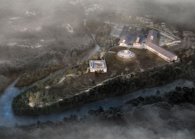 Emeishan distillery architect's impression