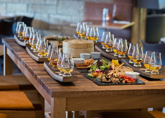 Amber Restaurant whisky flights