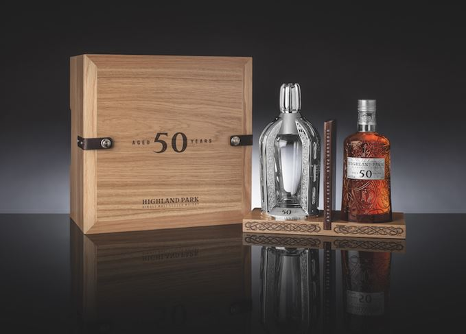 Highland Park 50 Year Old bottle and case